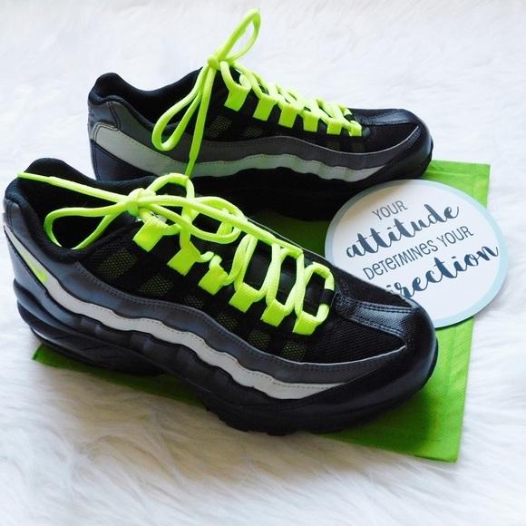 Nike Shoes | Air Max 95 Black Volt Big